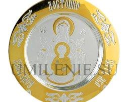 """Тарелочка латунная комбинированная """"Знамение"""""""