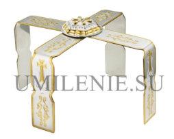 Звездица латунная с фрагментарной позолотой