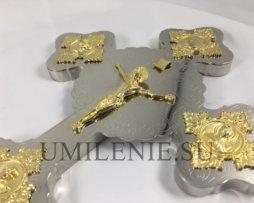 Крест напрестольный латунный никелированный