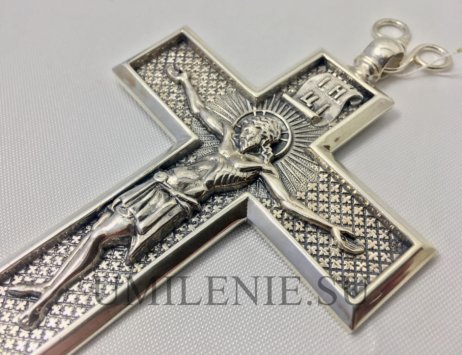 Крест наперсный серебряный без цепи