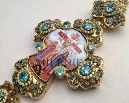 Крест наперсный серебряный в позолоте