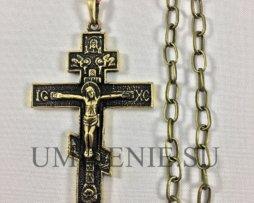 Крест наперсный иерейский медный с цепью
