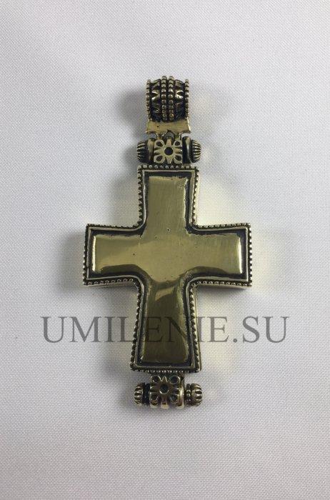 Крест-мощевик медный без цепи