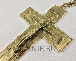Крест наперсный латунный без покрытия без цепи