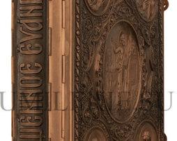 Евангелие в цельнометаллическом окладе напрестольное на церковно-славянском языке