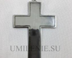 Крест наперсный латунный в серебрении и чернении без цепи