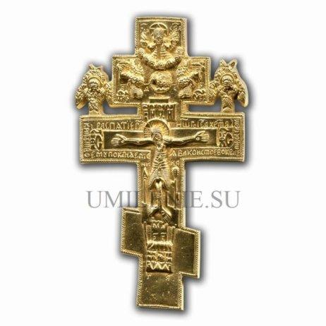 """Крест малый """"Распятие Христово"""" с херувимами"""
