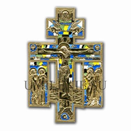 """Крест поморский киотный """"Распятие с предстоящими"""""""
