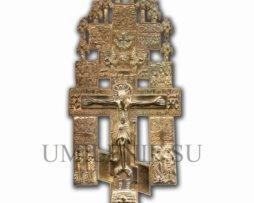 """Крест киотный """"Распятие с предстоящими"""" с иконами"""