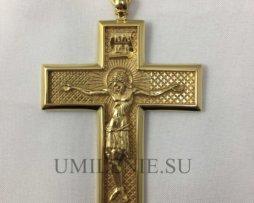 Крест наперсный латунный в позолоте без цепи