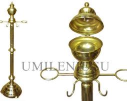 "Подставка храмовая латунная ""Алтарная"", для кадила, диаконских свечей и ладана"