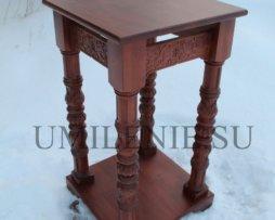 Литийный столик дубовый