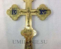 Крест напрестольный без покрытия с эмалью