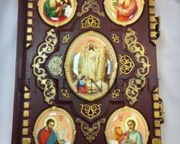Евангелие напрестольное в кожаном переплете