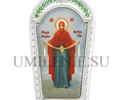 Икона на митру латунная в серебрении