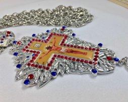 Крест наперсный из цинкового сплава с цепью