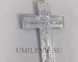 Крест наперсный латунный в серебрении без цепи