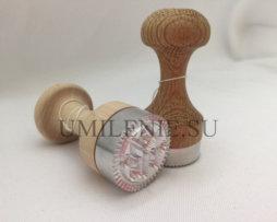 Печать для просфор Богородичная металлическая, диаметр 30 мм.