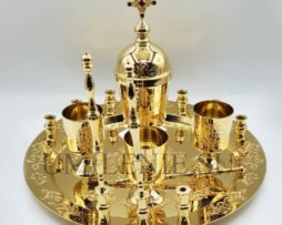 Набор для соборования латунный в позолоте
