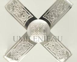 Звездица латунная в серебрении