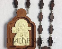 Панагия архиерейская деревянная с цепью