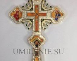 Крест напрестольный из бижутерного сплава