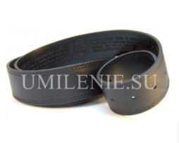 Ремень женский из натуральной кожи с литой латунной пряжкой