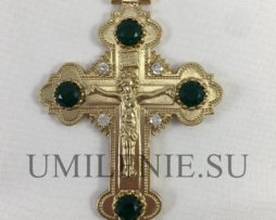 Крест наперсный из британского металла без цепи
