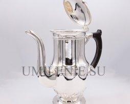 Чайник для теплоты латунный в серебрении
