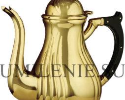 Чайник для теплоты латунный в позолоте