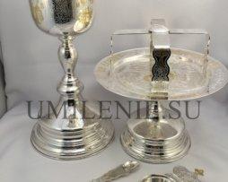 Евхаристический набор с мельхиоровым потиром на 1 литр