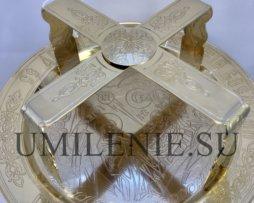 Евхаристический набор латунный в позолоте с потиром на 1 литр